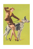 Woman and Great Dane Art
