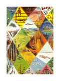 Quilt of Travel Images Posters