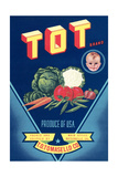 Crate Label for Tot Vegetables Posters