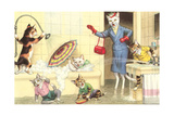 Crazy Cats in the Bathtub Print