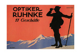 Hiker in the Alps Posters