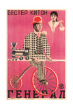Russian Keaton Film Poster - Reprodüksiyon