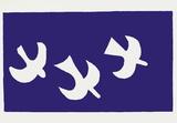 Drôles d'oiseaux sur une ligne à haute tension / For the Birds Sérigraphie par Georges Braque