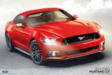 Ford Mustang GT 2015 Kunstdrucke