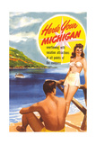 Michigan Travel Poster Posters