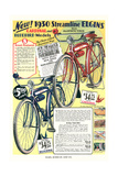Ad for Elgin Bicycles Poster