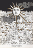 Sole A Geruslemme Serigraph by Piero Fornasetti