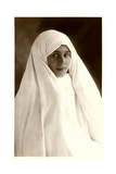 Young Woman in White Poster