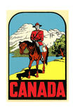 Mountie Decal Posters