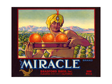 Miracle Orange Label Print