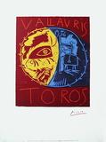 Toros Vallauris Serigrafie von Pablo Picasso