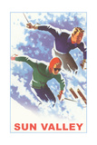 Skiers in Powder, Sun Valley Posters