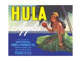 Hula Girl Label Prints