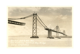 Bay Bridge under Construction Posters