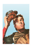 Baseball Catcher Watching Ball Poster