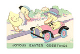 Joyous Easter Greetings, Ducks - Poster