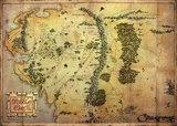 The Hobbit - Journey Map Plakaty