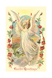 Greetings, Angel Amid Roses Prints