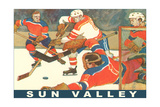 Sun Valley, Hockey Game Prints