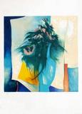 S - Bouquet Au Vase Bleu Særudgave af Claude Gaveau