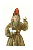 Lapp Girl with Snowballs Prints