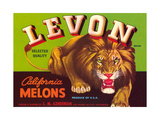 Levon Melons Label Prints