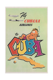 Travel Poster for Cuba Prints