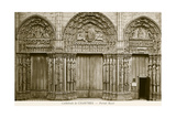 Royal Facade, Chartes Cathedral Posters