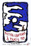 Expo Festival D'Automne Samlartryck av Pierre Alechinsky