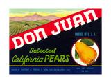 Don Juan Pear Label Prints