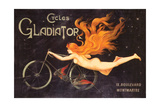 Gladiator Cycles Ad Giclée-Premiumdruck