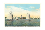 Yachting Near Michigan City Prints