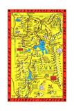 Yellowstone Park Map Prints