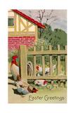Easter Greetings, Chickens - Reprodüksiyon