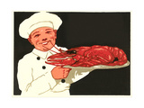 Chef with Lobster Prints