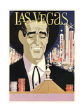 Las Vegas, Cowboy at Roulette Table Prints