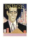 Las Vegas, Cowboy at Roulette Table Prints