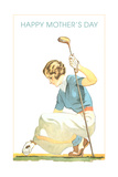 Happy Mother's Day, Woman Golfer Art