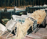 Le port de Cannes la nuit Collectable Print by Michel Terrasse