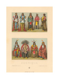 Costumes of Native America Print