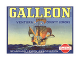 Galleon Lemon Label Prints