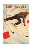 Sun Valley Skier Prints