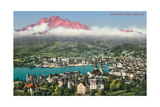Lucerne with Mt. Pilatus, Switzerland Prints
