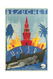 Visit the Ussr Travel Poster Print