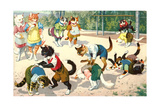 Crazy Cats on the Playground Prints