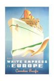 White Empress Ocean Liner Posters