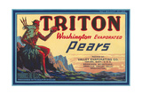 Crate Label for Triton Pears Prints