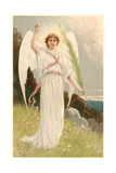 Angel with Palm Frond Posters