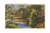 Old Covered Bridge, Valley Ford Poster