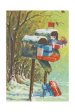 Mailboxes with Presents Prints